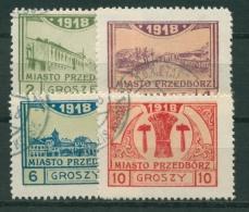 Polen 1918 Stadtpost Przedborz 3/6 B Gestempelt - Gebraucht