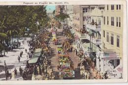 CPA Colorisée Animée - Pageant On Flager St. - MIAMI - Fla. - Miami