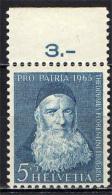 SVIZZERA - 1965 - EFFIGIE DI PADRE T. FIORENTINI - SERIE PRO PATRIA - NUOVO MH - Suiza