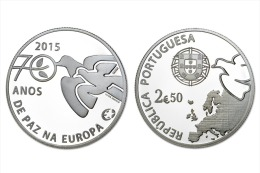 "PORTUGAL  2,50 € 2.014 2014 Cu Ni  SC/UNC  ""70 ANOS DE PAZ EN EUROPA""  T-DL-11.267 - Portugal"