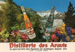 Cpsm(74) La Clusaz Distillerie Des  Aravis Le Specialiste Des Liqueurs De Montagne Depuis 1878 - La Clusaz