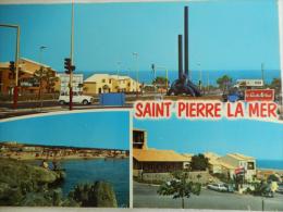 SAINT PIERRE LA MER Entrée Route De La Clape, La Plage, Les Isards - Cpsm Non écrite éditions Larrey N° 15014 - Autres Communes