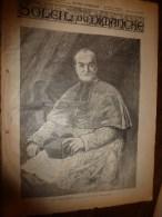 1896 SOLEIL Du DIMANCHE: Escrime International;Les MACROBES;Météor à Lesnes Près Namur;Âmes Des Sauvages;Sciure De Bois - Astronomie