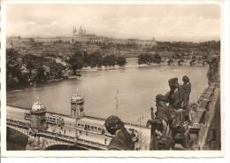 PRAHA - PRAGA - PRAGUE N°1005 PRAG.BRADSCHIN EDIT.J.S.P CIRCULEE CPA 1946 BELLE PANORAMA UNIQUE!  GECKO - Tschechische Republik