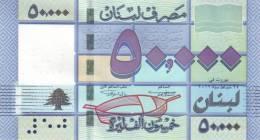 LEBANON P. 94a 50000 L 2011 UNC - Libanon