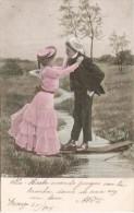 PAREJA COUPLE PAAR MA MOITIÉ LOVERS N°716 VOYAGÉE VIAJADA 1904 COLOR DETAILS TBE  GECKO. - Koppels