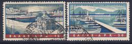 Greece, Scott #C74,C76-9 Used Harbors, 1958 - Airmail