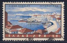 Greece, Scott #C79 Used Cavalla Harbor, 1958 - Airmail
