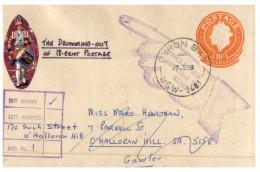 (888 PH) Australia Prepaid Envelope - 18 C - Posted From NSW To WA And Return To Sender + Drumering Sticker ? - Australia