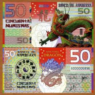 "KAMBERRA  50 NUMISMAS  2.012  ""Año Del Dragon"" UNC/SC PLANCHA  T-DL-10.559 - Banknotes"