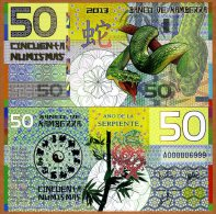 """KAMBERRA  50 NUMISMAS  2.013  """"Año De La Serpiente"""" UNC/SC PLANCHA  T-DL-10.560 - Banknotes"""