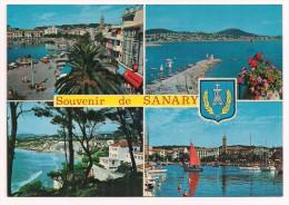 83 - Souvenir De SANARY Sur MER - Multivues Avec Blason - Editions YPA N° 83.128.72 - Sanary-sur-Mer