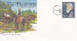 Norfolk Island,1983 The Pitcairners ,John Buffett II, Pre Stamped Envelope FDC - Norfolk Island