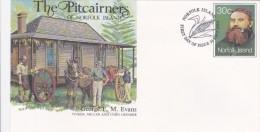 Norfolk Island,1984 The Pitcairners ,George F.M. Evans, Pre Stamped Envelope FDC - Norfolk Island