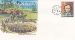 Norfolk Island,1985 The Pitcairners, John Adams II, Pre Stamped Envelope FDC - Norfolk Island