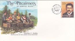 Norfolk Island,1986 The Pitcairners ,Fletcher C. Nobbs, Pre Stamped Envelope FDC - Norfolk Island