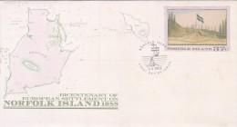 Norfolk Island,1988 Bicentenary, Pre Stamped Envelope 028  FDC - Norfolk Island