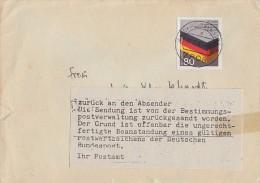 Bund Brief Gelaufen In DDR Postkrieg Ansehen !!!!!!!!!!!!!!! - BRD