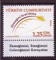 2015 TURKEY PREVENTING BREAD WASTE MNH ** - Nuevos