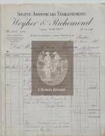 Document Du 08/08/1896 WEYHER & RICHEMOND Pantin - 93 Seine-Saint-Denis - 1800 – 1899