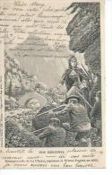 MADEMOISELLE DE LA CHARCE REPOUSSE LE PRINCE EUGENE EN 1692  - DESSIN : P. MEJANEL - Illustrateurs & Photographes