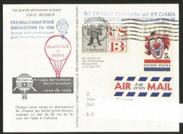 BALLOON Ballon Gordon Bennett Balloon Club Of America In Memoriam Emil Messner Norristown USA 1966 - Montgolfières