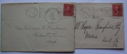 USA 1900`S COVERS X 2 WITH FLAG POSTMARKS CHESTER AND MIDDLETOWN - United States