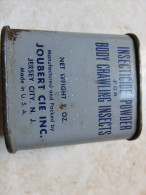 Boite US Pleine, Insecticide Powder For Body Crawling Insects JERSEY City N.J. Made In U.S.A., Mesure 6x6x4 Cm - 1939-45