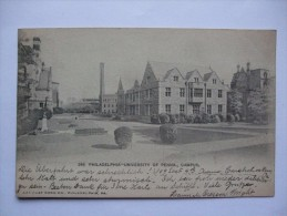 USA 1904 POSTCARD PHILADELPHIA UNIVERSITY OF PENNA CAMPUS SENT TO FRANCE - Philadelphia