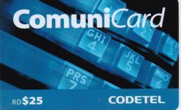 DOMINICANA PREPAID PHONECARD CODETEL-USED(1)