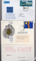 Lot Theme Europe : Ema 1984+ Election 1984 +session 1993+50 Ans Europe 2007 - Lettres & Documents