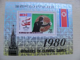 SALE! MNH Post Stamps From DPR Korea 1980 Sport M/s Boxing Moscow Olympic Games Cuba Stevenson Winner Medal - Corea Del Nord