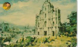 MACAU PHONECARD(GPT) PENHA HILL CHURCH CN:8MACB-1/93-90000pcs -USED(1) - Macau