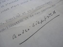 André SIEGFRIED (1875-1959) SOCIOLOGUE Académie Française - AUTOGRAPHE - Autographes