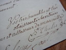 MAIRE De MARSEILLE (1788) GASTRONOMIE / Boucherie - THULIS ... - AUTOGRAPHE - Autografi