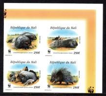 Mali 1223/26 Imperforé , Luxe WWF  Porc-épic - W.W.F.