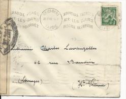 1940 - CENSURE FRANCAISE NC 201 Sur ENVELOPPE De AIX LES BAINS (SAVOIE) - Marcophilie (Lettres)