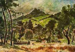 Andre DUNOYER DE SEGONZAC Paysage Vers Grimaud Musee De L'annoncide St Tropez - Paintings