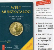 Weltmünzkatalog A-Z 2015 Neu 50€ Münzen 20.Jahrhundert Battenberg Verlag Schön Coins Europe America Africa Asia Oceanien - Zinn