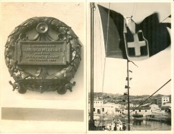 LA MADDALENA 1928 - Commemorazione Eroe D. Millelire E Cerimonia Consegna Bandiera Di Combattimento - Eventi