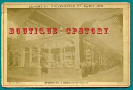 EXPOSITION UNIVERSELLE DE PARIS 1889 < SECTION De La GRANDE BRETAGNE < PHOTOGRAPHIE  16.5 X 11 Cm Sur CARTON - Photos