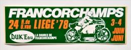 Moto / DUK´Eau / FRANCORCHAMPS - 24h De Liège 1978 / Autocollant - Autocollants