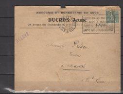 87 - Limoges - Ducros Jeune - Mercerie Et Bonneterie En Gros - 1923 - Postmark Collection (Covers)