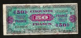 FRANCE -ALLIED MILITARY CURRENCY - 50 Francs (FRANCE) - Série 1944 - Trésor