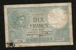 FRANCE - BANQUE De FRANCE - 10 Francs MINERVE (PA. 16 - 1 - 1941) - 1871-1952 Antichi Franchi Circolanti Nel XX Secolo