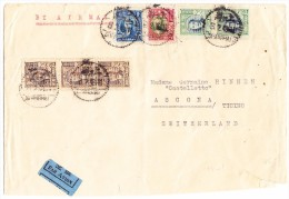 China Luftpost Brief Von Shanghai Nach Ascona Tessin - 1912-1949 République