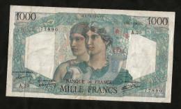 FRANCE - BANQUE De FRANCE - 1000 Francs MINERVE Et HERCULE - (D. 31 - 5 - 1945) - 1871-1952 Antichi Franchi Circolanti Nel XX Secolo