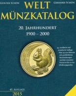Coins Weltmünzkatalog A-Z 2015 New 50€ Münzen 20.Jahrhundert Battenberg Verlag Schön Europe America Africa Asia Oceanien - Pins