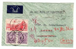 China Flugpost R-Brief Canton Nach Saigon (10.9.1938) Zurückgesendet - 1912-1949 République