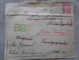 Hungary - Cover Dombegyház-to Kaszaperpuszta And Retour   1913   Békés  D128793 - Ungarn